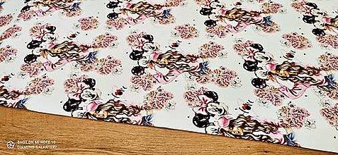 Textil - Teplákovina - cena za 10 centimetrov (Love Minnie) - 13619692_