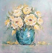 Obrazy - Žlté ruže - 13618124_