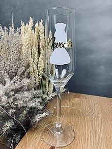 Nádoby - Šampusový pohár pre nevestu - 13617819_