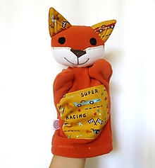 Hračky - Maňuška líška - Lišiačik Pretekár - 13619284_