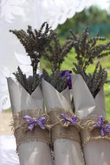 Dekorácie - Jednoduché levanduľové kytičky - 13618440_