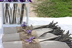 Dekorácie - Jednoduché levanduľové kytičky - 13618484_