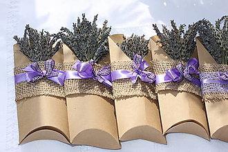Dekorácie - Mini levanduľové kytičky pre pani učiteľku - 13617603_