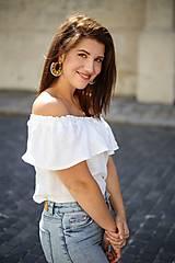 Topy, tričká, tielka - Ľanový top INDIANA - 13619622_