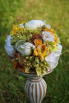 Dekorácie - Kvetinová guľa - 13619282_