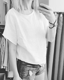 Šaty - Oversize ľanové tričko - Dodko - 13617165_