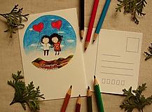 Papiernictvo - pohľadnica: l á s k a  povznáša - 13620561_