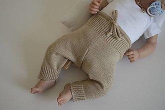 Detské oblečenie - Baby nohavice Macko, hnedé - 13620415_