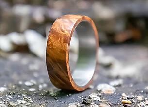 Prstene - SKLADOM Titánový prsteň stabilizovaný javor - 13621645_