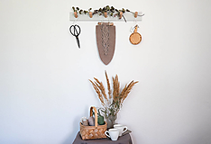 Dekorácie - Makramé pletený list - 13621325_