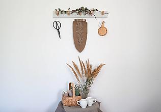 Dekorácie - Makramé pletený list (Piesková) - 13621340_