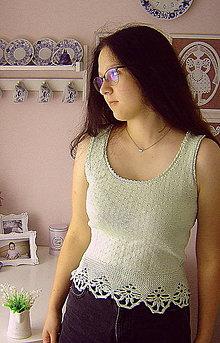 Tielka - Ručně pletené tielko - 13621535_