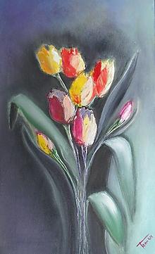 Obrazy - Tulipány - 13620482_