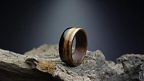 Prstene - Drevený prsteň - Americký orech/Zebrano/Eben - 13621312_