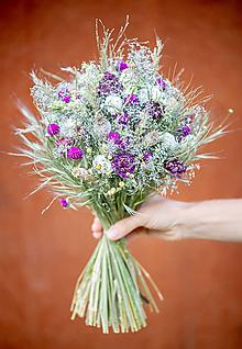Dekorácie - Kytica zo sušených kvetov - 13624045_