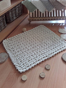 Úžitkový textil - Háčkovaný koberček predložka do kúpeľne - 13623186_