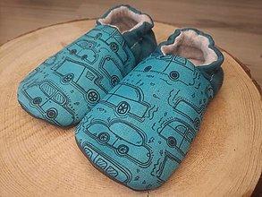 Detské topánky - Capačky sofsthellové autina 6-9 mesiacov - 13623798_