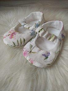 Detské topánky - Balerínky maľovaná lúka 9cm - 13623883_