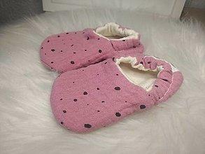 Detské topánky - Capačky mušelínové bordové 10cm - 13623901_