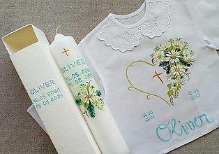Detské oblečenie - Set do krstu sedmokráskový - 13626740_