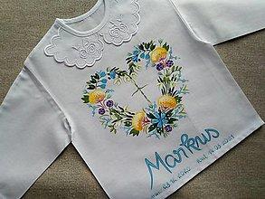 Detské oblečenie - Košieľka na krst- Nevädze - 13626747_