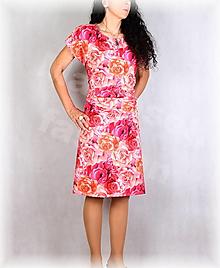 Šaty - Šaty s řasením v pase vz.702 - 13627072_