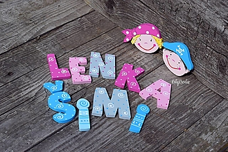 Detské doplnky - drevené písmenká pre malých pirátov - 13625804_