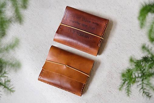 Peňaženky - Vlastný text, kožená peňaženka  - 13627142_