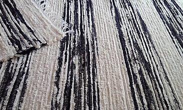 Úžitkový textil - Maslovo čierny koberček - 13625353_