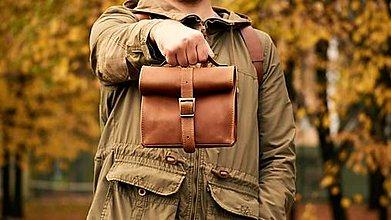 Iné tašky - Kožený lunchbag. - 13626476_