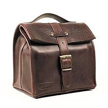 Iné tašky - Hnedá kožená taška. - 13626491_