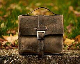 Iné tašky - Khaki kožená taška - 13626508_