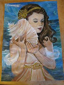 Obrazy - Malá morská víla - 13627383_