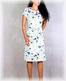 Šaty - Šaty s řasením v pase vz.706 - 13628981_