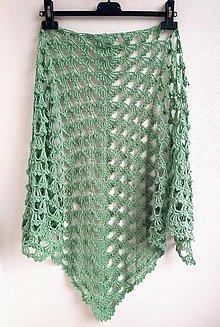 Šatky - Šatka Organic Cotton Green - 13628617_