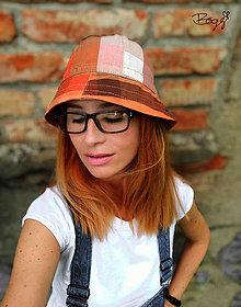 Čiapky - kanafasový klobouk s rouškou 53-55cm - 13628784_