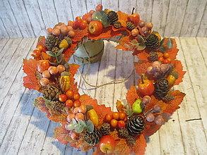 Dekorácie - Jesenný venček - 13631557_