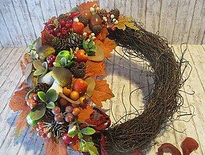 Dekorácie - Jesenný venček - 13631564_