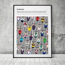 Grafika - CYKLISTIKA, minimalistický print - 13630666_
