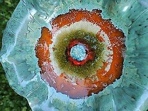 Sochy - Maková fontána (Priemer misy cca 50cm výška cca 30 cm - Zelená) - 13631320_