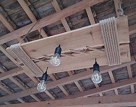 Svietidlá a sviečky - Drevený luster CIKCAK - 13632430_