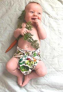 Detské doplnky - Mňam, zeleninka... - Nohavičková plienka Natural + vkladačka - 13631504_