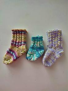 Detské topánky - Detské ponožky- kvalitné baby merino, hypoalergénne farby - 13634030_