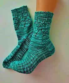 Obuv - Ponožky exkluzívne- ručne farbená merino priadza - 13634067_