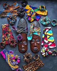 """Šatky - Šatky do vlasov z Africkej kolekcie-"""" Mix farieb - 13632820_"""