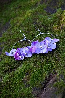 Náušnice - Náušnice - kruhy s kvetmi - 13634214_