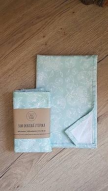 Úžitkový textil - Okrasná utierka - mätová - 13632977_