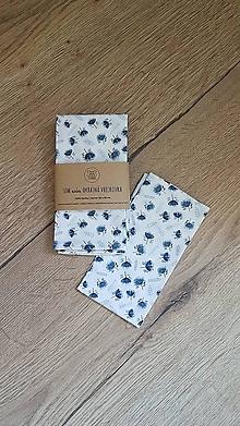 Iné doplnky - Nielen okrasné vreckovky - modré kvety - 13632979_