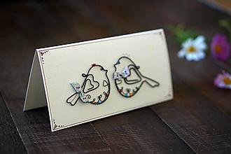 Papiernictvo - svadobná pohľadnica - 13633848_