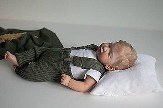Detské oblečenie - Baby kamaše, veľ. 56-140, OEKO-TEX®, olivové - 13635023_
